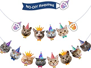 Cat Birthday Banner Birthday Garland Cat Theme Party Bunting Decoration Baby Shower Party Supplies (Cat)