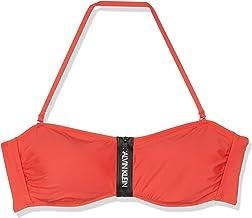 Tommy Hilfiger Zip Bandeau-rp Parte de Arriba de Bikini para Mujer