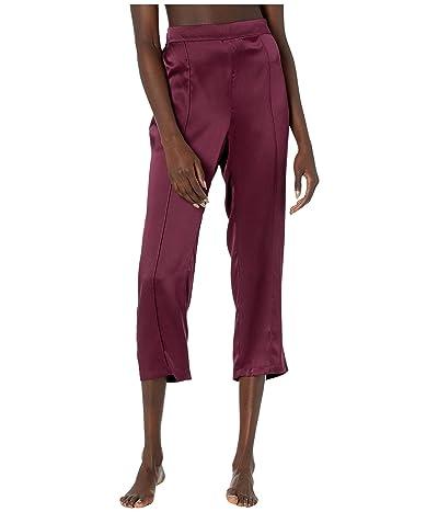 Thistle & Spire Silk Lounge Pants (Cherry) Women