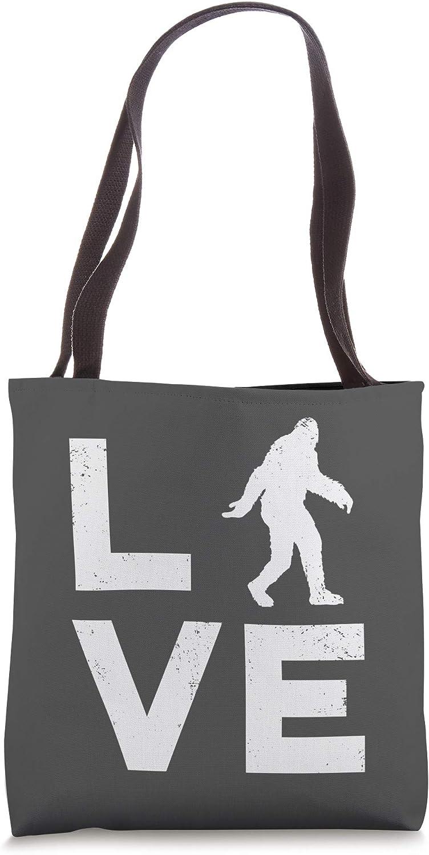 LOVE Bigfoot Yeti or Sasquatch Retro Tote Bag