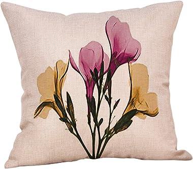Retro Cotton Linen Home Sofa Decor Throw Pillow Case Flowers Cushion Cover Vogue, Pillowc Ase Pillow Case Home Decor Living Room for Easter