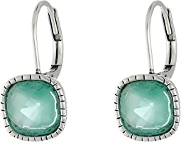 The Sak Cushion Stone Leverback Earrings