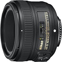 Nikon AF-S NIKKOR 50mm f/1.8G Len [International Version,...