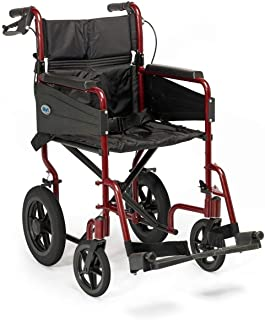 Days Escape Wheelchair, Transit Attendant Propelled, Standard, Ruby Red