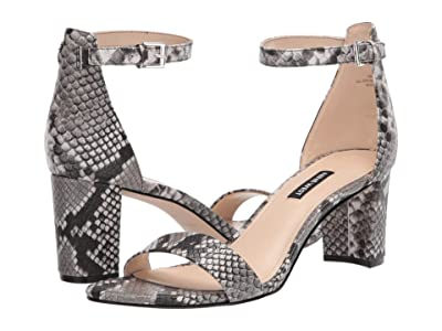 Nine West Pruce Block Heeled Sandal (Gray Multi) Women