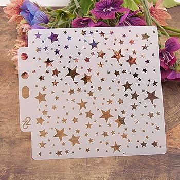 Uso en la Pared Lavable Tela y Placas Plantilla Hueca para Pintar Carteles de Holzveranda ECMQS Plantillas para Pintar Girl DIY Painting Stencils