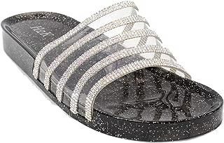 Womens Jelly Glitter Summer Slide Sandals Flip Flops (Adults)