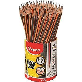 2B #12xMaped Bleistift BLACK/'PEPS Härtegrad