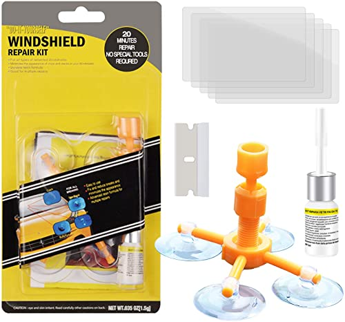 high quality zeBrush Windshield Repair Kit, Car new arrival Window discount Glass Repair Tool for Quick Fix Windshield Chips, Cracks, Bulls-Eye, Star-Shaped and Half-Moon Cracks online sale