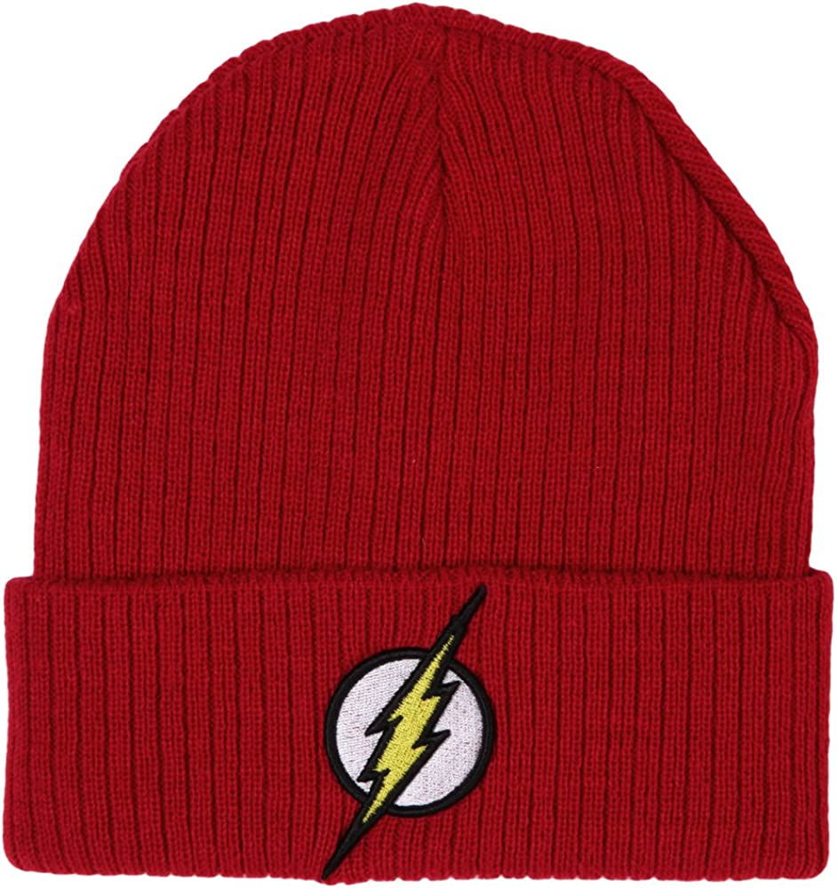 Flash Logo Knit Direct stock discount Cuff Beanie One Size Red free shipping