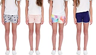 Star Ride Sweet Butterfly 4PK Girls Athletic Shorts, Dolphin Yoga Shorts, Girls Workout Clothes