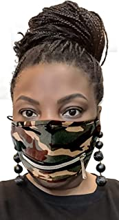 Sponsored Ad - Sip and Zip Face Mask with Zipper Mouth – Anti-Dust Cycle, Bike Face Mask Covering