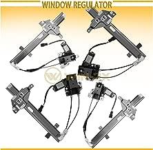 WIN-2X New 4pcs Complete Front+Rear Left+Right Side Power Window Regulators & Motors Assemblies Fit 97-05 Buick Century 97-04 Regal 98-02 Oldsmobile Intrigue