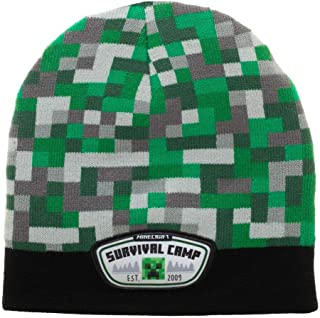 Minecraft Printed Patch Youth Survival Camp Beanie