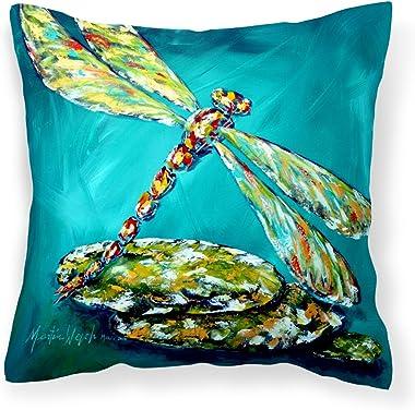 Caroline's Treasures MW1144PW1414 Insect - Dragonfly Matin Canvas Fabric Decorative Pillow, 14Hx14W, Multicolor