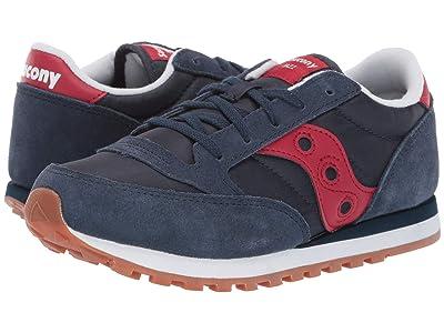 Saucony Kids Originals Jazz Original (Little Kid/Big Kid) (Navy/Red) Boys Shoes