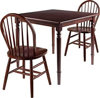 Mornay 3pc Set Dining Table with Windsor Chairs