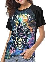 Queen Rock Band Freddie Mercury Short Sleeve Womens 3D Print Baseball T-Shirt Hip Hop Sports Raglan Tee Top Shirt