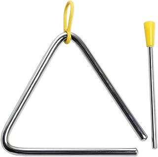 CASCHA HH 2004 Triangulo con martillos con empuñadura de goma, para percusión y educación musical temprana
