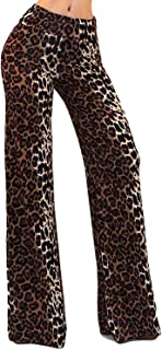 Vivicastle Women's USA Fold Over High Waist Wide Leg Long Palazzo Pants
