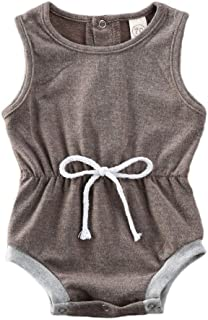 Midbeauty I Love Grandpa Summer Baby Sleeveless Romper One-Piece Bodysuit Jumpsuit Outfits