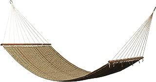 East Coast Hammocks Q8308 Large 2 Person Sunbrella Quilted Hammock - Harwood Cocoa