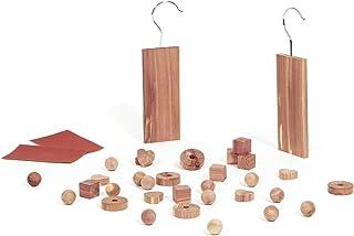 Compactor Coffret de 34 Pièces de Cèdre Rouge Naturel, Américain, Anti-mites, CED237