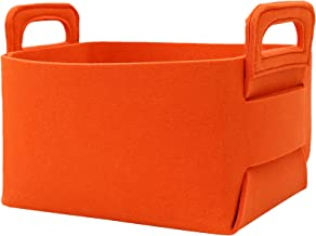 MoiDolf 2 Pack Foldable Storage Baskets for Shelves Decorative Collapsible Storage Cube with Carry Handles Felt Storage Ba...