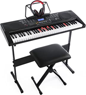 $119 Get Joy 61-Key Lighting Keyboard with USB Music Player Function, Including Headphone, Stand & Stool (Kl-91MKit)