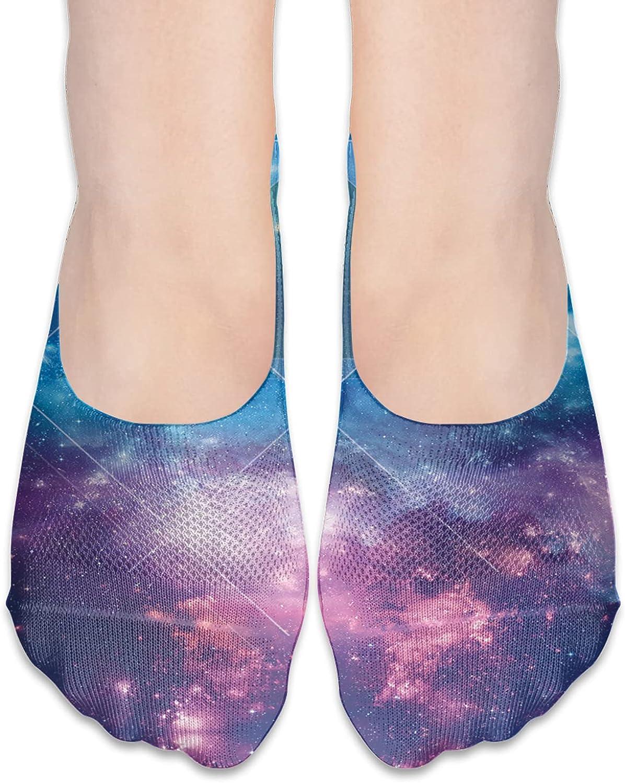 No Show Socks Women Men For Galaxy Sky Green Triangle Flats Cotton Ultra Low Cut Liner Socks Non Slip