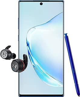Samsung Galaxy Note 10+ Single SIM - 256GB, 12GB RAM, 5G, Aura Blue + JBL Under Armour True Wireless Flash Earphone