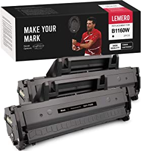 LEMERO Compatible Toner Cartridge Replacement for Dell 1160 YK1PM 331-7335 to use with B1160w B1160 B1163w B1165nfw (2 Black)