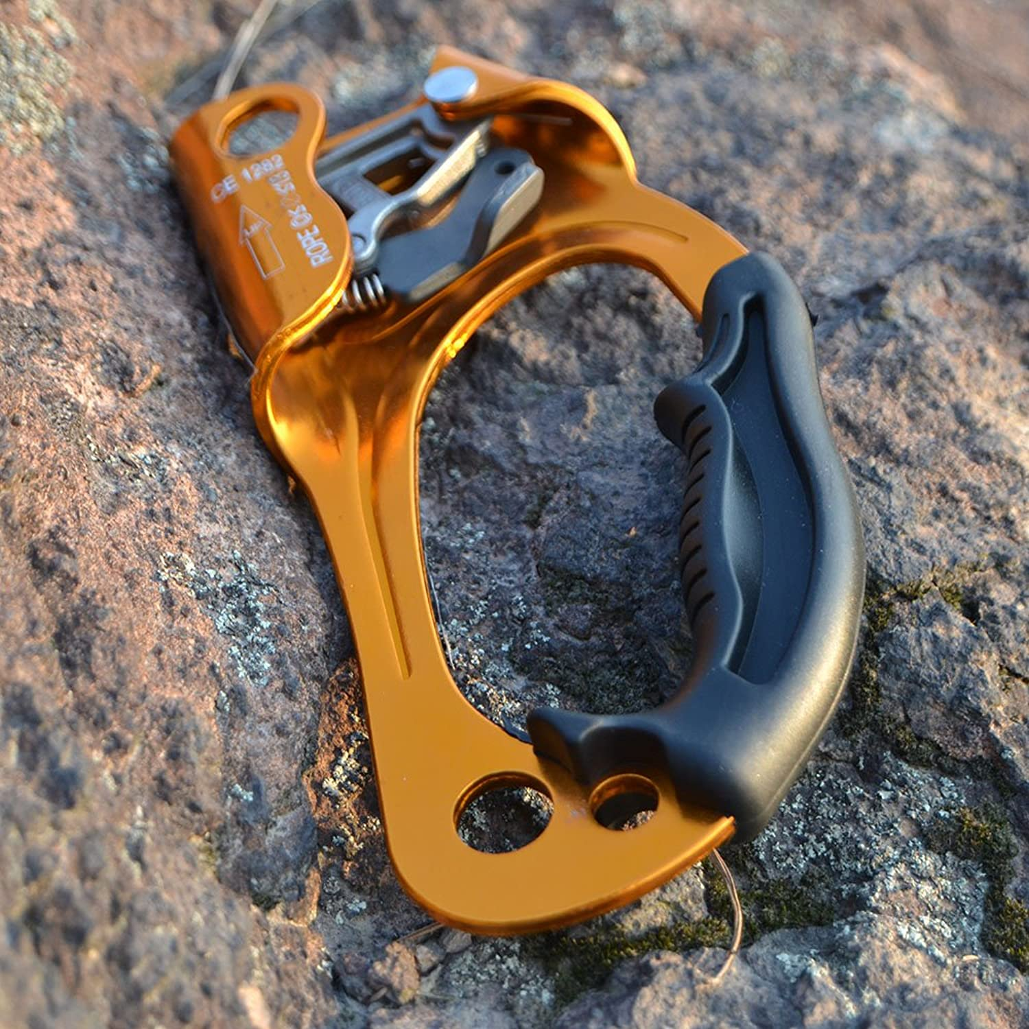 Generic Outdoor Rock Tree Climbing Arborist Right Hand Rope Ascender Clamp for 8mm13mm Rope