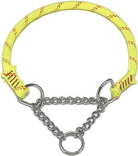 ドッグ・ギア ザイルハーフチョーク首輪 ロープ径10mm イエロー ぴったりサイズ 「ザイルリードとカラーコーディネートできる首輪です」