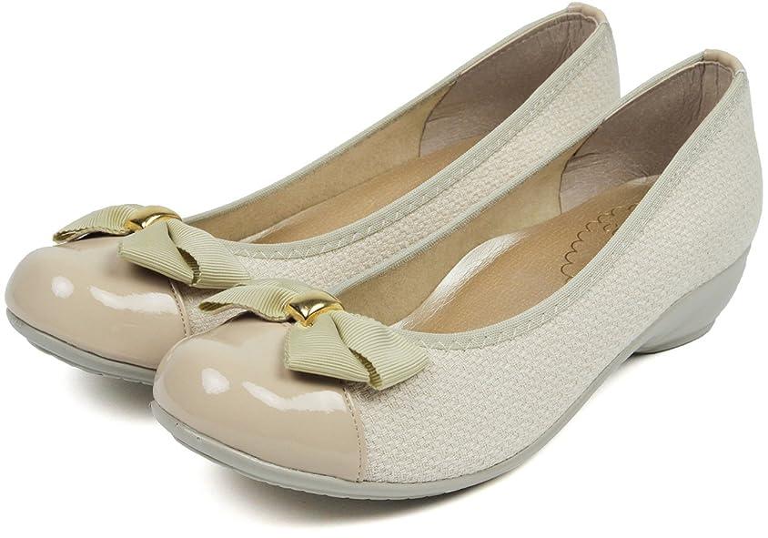 朝食を食べるねじれ樫の木[セレブル] (ファーストコンタクト) FIRST CONTACT 日本製 パンプス レディース 歩きやすい ぺたんこ リボン 疲れない 靴
