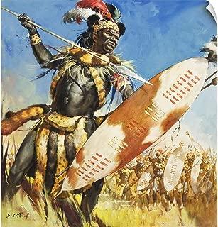 CANVAS ON DEMAND Zulu Warrior Wall Peel Art Print, 19
