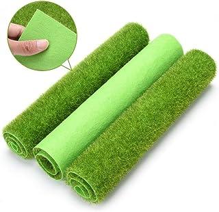 Césped Artificial Césped Artificial Mat- Gras miniatura decoración de jardín, 30 x 30 cm cojín del animal doméstico de interior / exterior de plástico Césped de alfombras, hierba de simulación, casa d