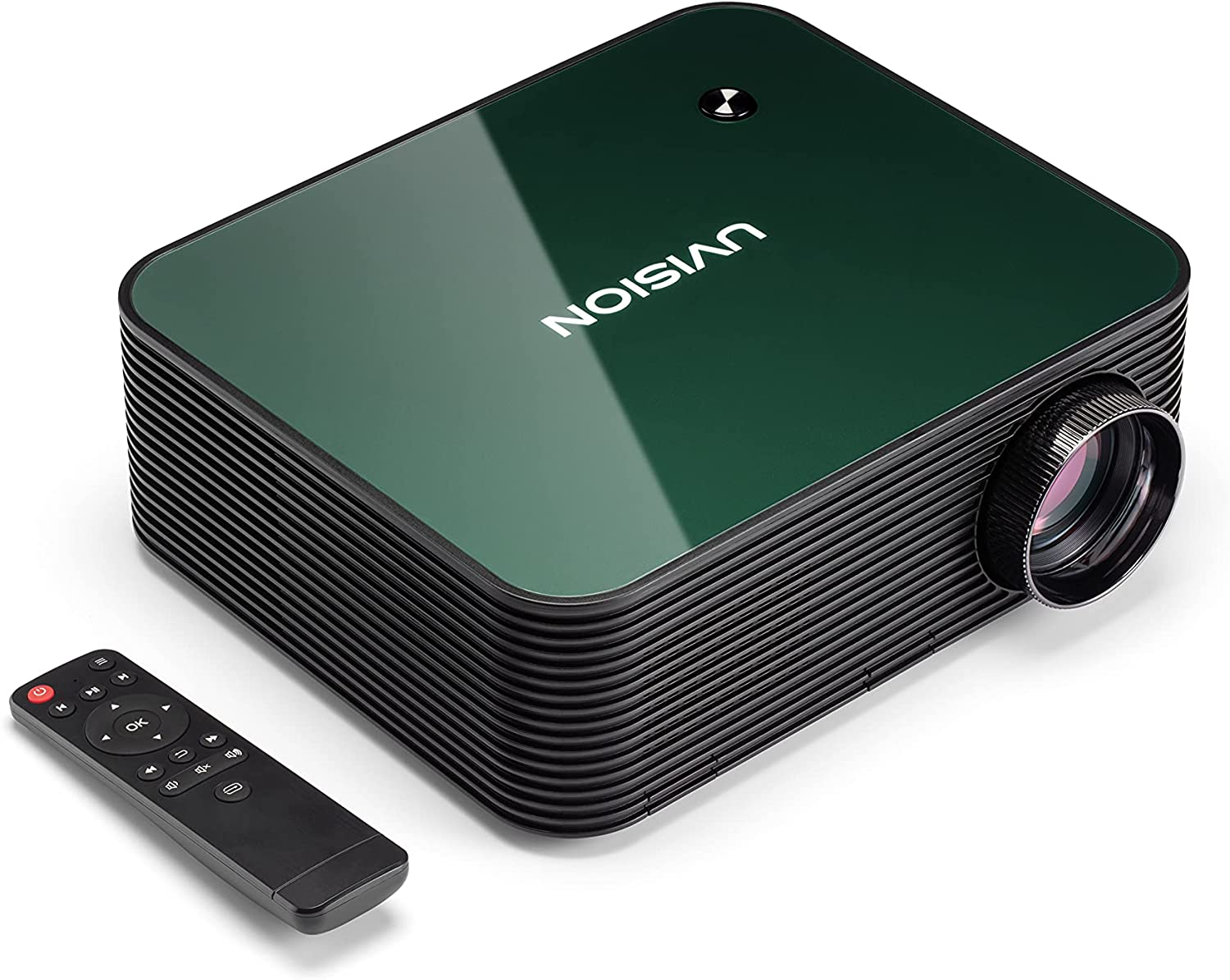 UVISION Native 1080P Projector (1920 x 1080p) Advanced Dustproof & Keystone Correction Design Extend Lifetime, Home & Office LCD Video Projector, Compatible: Fire TV Stick, Roku, Laptop, Tablets, PS5