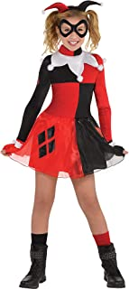 Batman Harley Quinn Costume for Girls, Includes a Dress, Headband, Mask, and Fingerless Gloves