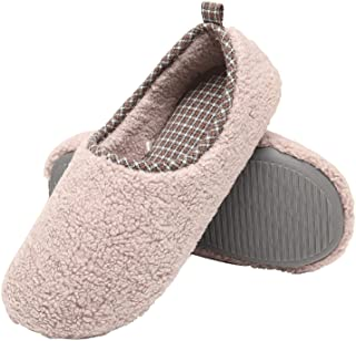 ChayChax Chaussons de Maison Femme Hiver Chaud Peluche Pantoufles Mousse à Mémoire Légère Confort Chaussures en Coton d'in...