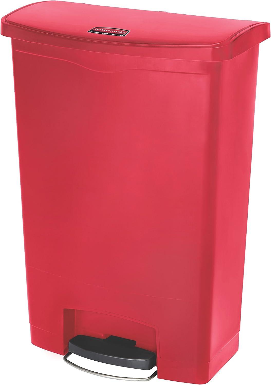 Rubbermaid Commercial Products 1883570 1883570 1883570 Slim Jim Step On Kunststoff-Tretabfalleimer mit Pedal an der Breitseite, 90 L, Rot B00Q4MN2IU   Nicht so teuer  c24a54