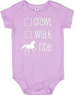 Crawl, Walk, Ride Baby Horse Onesie for Infant Boys & Girls