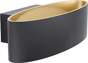 EGLO Maccacari Led-wandlamp, modern, minimalistisch, van aluminium, staal en kunststof, woonkamerlamp, hallamp in zwart, g...