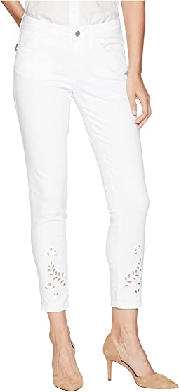 Adriana Midrise Super Skinny Ankle in White Deco