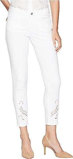 Mavi Jeans Adriana Midrise Super Skinny Ankle in White Deco