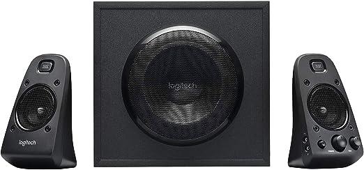 Logitech Z623 THX 2.1 Sistema de Altavoces con Subwoofer, Certificado THX Audio, 400 Vatios de Pico, Graves Potentes, Entradas de 3.5 mm/RCA, Enchufe EU, Multi-Dispositivos PC/PS4/Xbox/TV/Móvil/Tablet