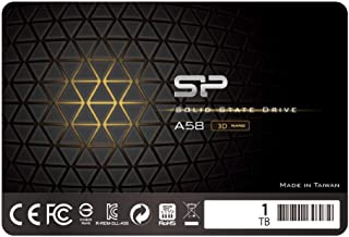 "Silicon Power 1TB SSD 3D NAND TLC A58 Performance Boost SATA III 2.5"" 7mm (0.28"") Internal Solid State Drive SU001TBSS3A58..."