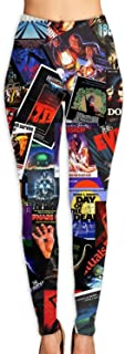 Qeeww Yoga Pants Horror Movie Yoga Capris Printed Workout Leggings for Fitness Riding Running(S-XL)