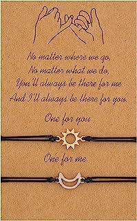 INENIMARTJ 2Pcs Pinky Promise Bracelet Set For Two Best Friends Couple Long Distance Matching Bracelets Birthday Jewelry G...