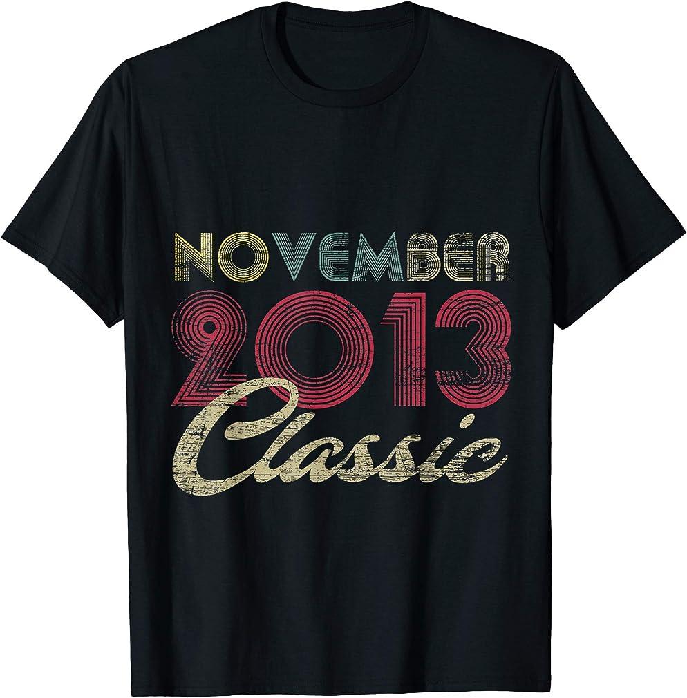 Classic November 2013 Bday Boys Girls Gifts 7th Birthday T-shirt